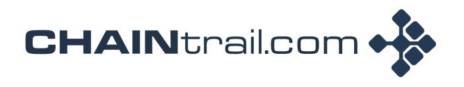 CHAINtrail dot com logo Blue